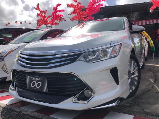 沖縄の中古車 トヨタ カムリ 車両価格 193万円 リ済込 2016(平成28)年 2.0万km パールホワイト