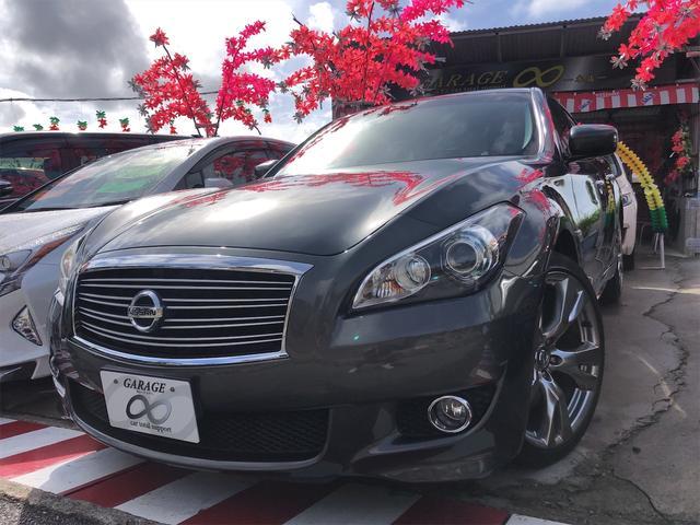 沖縄県の中古車ならフーガ 370GT パワーシート ハーフレザーシート HIDヘッドライト サイドカメラ付き トランクスポイラー 20インチホイール TV・ナビ・バックカメラ 本土車両 無事故車 24ヵ月保証付き