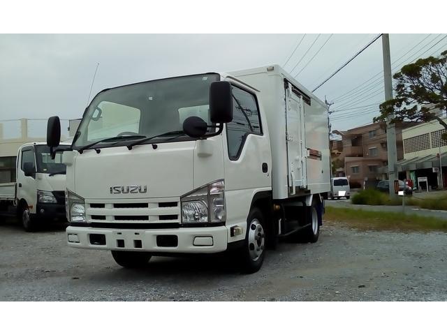 中頭郡西原町 真栄田自動車 いすゞ エルフトラック 冷凍車 -20確認 1.5t ホワイト 17.5万km 2011(平成23)年