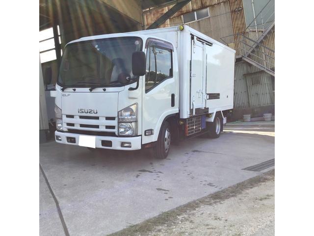 沖縄県の中古車ならエルフトラック 2t冷凍車 2室固定式 スタンバイ付き