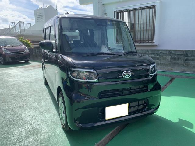 沖縄の中古車 ダイハツ タント 車両価格 138万円 リ済込 2019(令和1)年 796km ブラック