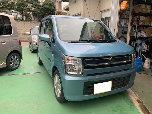 沖縄の中古車 スズキ ワゴンR 車両価格 68万円 リ済込 2017(平成29)年 2.7万km ブルー