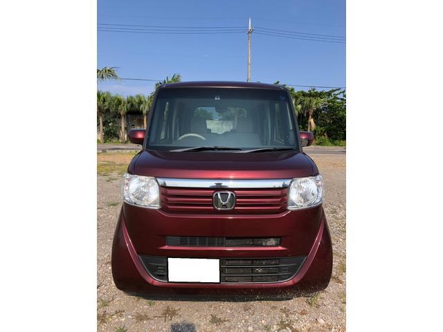 沖縄の中古車 ホンダ N-BOX 車両価格 65万円 リ済別 2012(平成24)年 6.6万km ブラウン