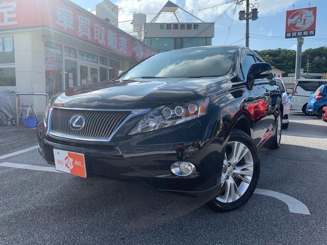沖縄の中古車 レクサス RX 車両価格 168万円 リ済込 2011(平成23)年 7.0万km ブラック