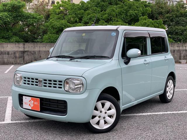 沖縄県那覇市の中古車ならアルトラパン X ルーフ白ツートン スマートキー 革調シートカバー