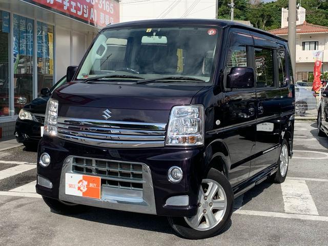 沖縄県の中古車ならエブリイワゴン PZターボスペシャル ナビTV 両側パワスラ DVD・BT