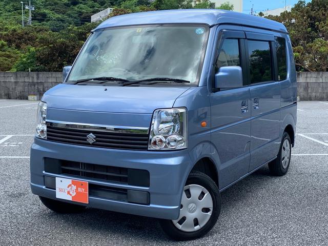 沖縄の中古車 スズキ エブリイワゴン 車両価格 88万円 リ済込 2013(平成25)年 4.9万km ブリーズブルーメタリック