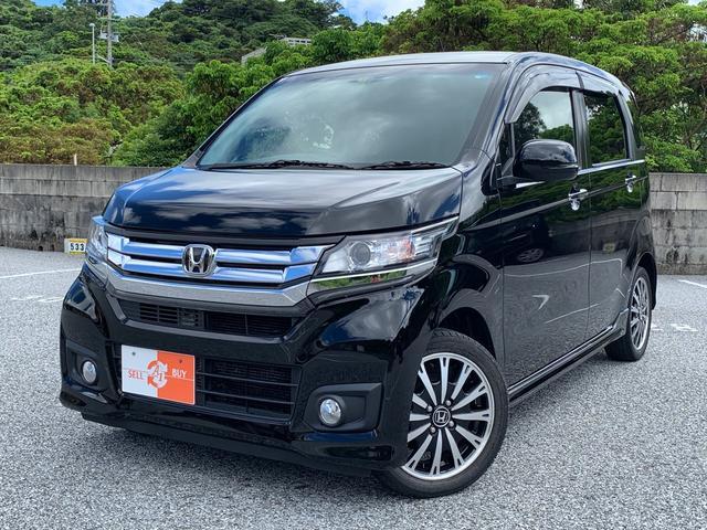 沖縄の中古車 ホンダ N-WGNカスタム 車両価格 88万円 リ済込 2015(平成27)年 7.3万km スマートブラック