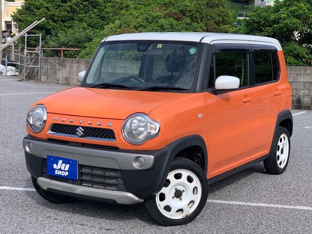 沖縄県の中古車ならハスラー G スマートフォン連携ナビ TV ブルートゥース レーダーブレーキサポート バックカメラ