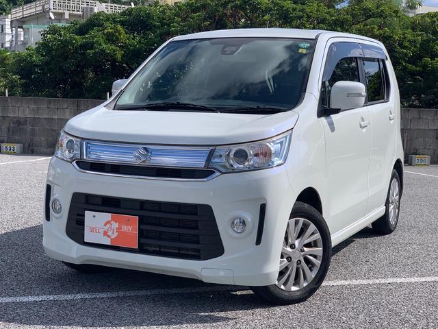 沖縄の中古車 スズキ ワゴンRスティングレー 車両価格 81万円 リ済込 2014(平成26)年 5.8万km パールホワイト