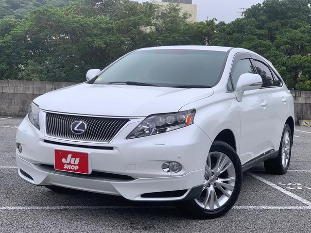 沖縄の中古車 レクサス RX 車両価格 174万円 リ済込 2011(平成23)年 8.1万km ホワイトパールクリスタルシャイン