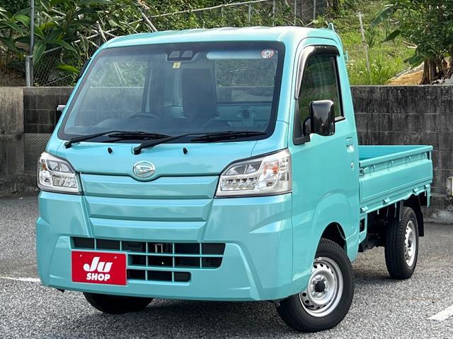 沖縄県の中古車ならハイゼットトラック スタンダードSAIIIt トリパルキャンピングカー ナビTV バックカメラ ソーラーパネル 24インチテレビ ロフト サブバッテリー 壁取付エアコン 網戸 脚付で本体の積み下ろし可能