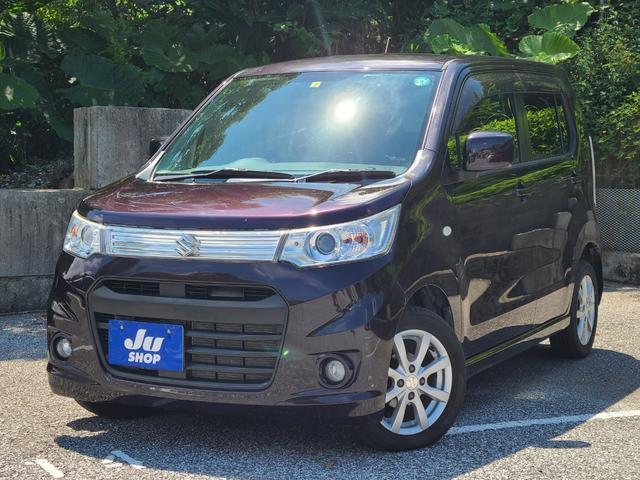 沖縄県の中古車ならワゴンRスティングレー X DVD TV Bluetooth対応 HID 純正アルミ