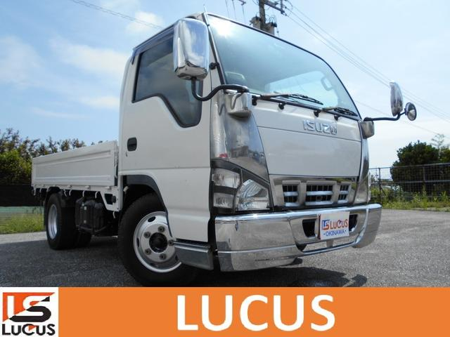 糸満市 株式会社LUCUS沖縄店 いすゞ エルフトラック ベースグレード 2t 平ボディ ETC CD メッキパーツ ホワイト 16.8万km 2006(平成18)年