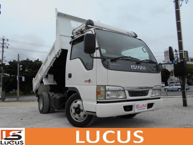 沖縄県の中古車ならエルフトラック ダンプ 全車内地仕入 シャーシB ETC 荷台鉄板 MT