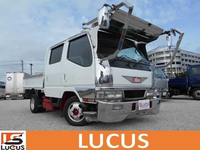 沖縄県の中古車ならキャンター Wキャブ メッキパーツ シャーシB 内地仕入れ 排ガス装置無