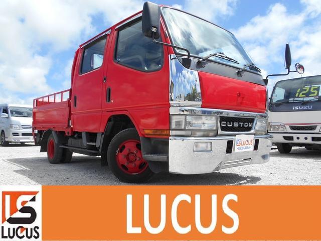 沖縄県の中古車ならキャンター ベースグレード Wキャブ 積載1.1t 5MT 2000cc 標準 低床 内地中古 下廻り錆止め処理 荷台2.07m×1.6m 総重量3100kg 新免許でも運転可能 ガソリン
