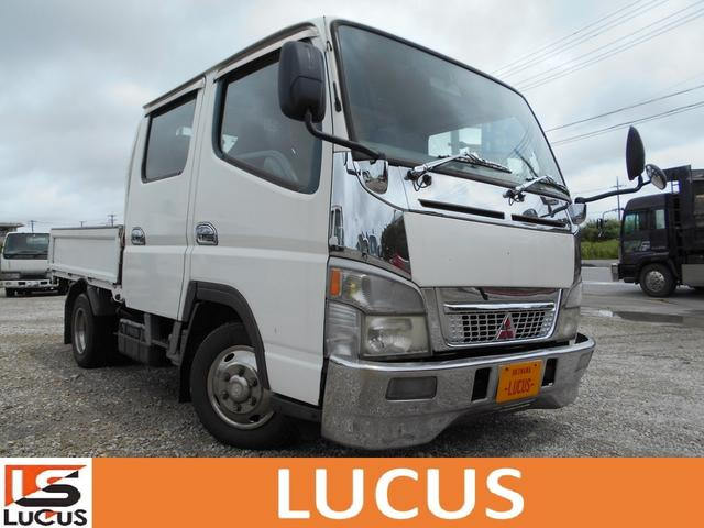 沖縄県の中古車ならキャンター Wキャブロング全低床DX Wキャブ 5MT 内地中古 2800cc 軽油 ルーカスオリジナルシートカバー 積載1250kg