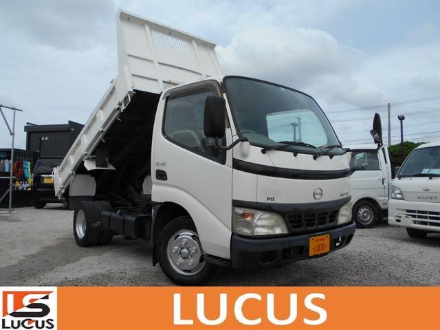 沖縄県の中古車ならデュトロ 超低床強化ダンプ 強化ダンプ 内地中古 軽油 5MT 4900cc 積載2t 車両総重量5t未満