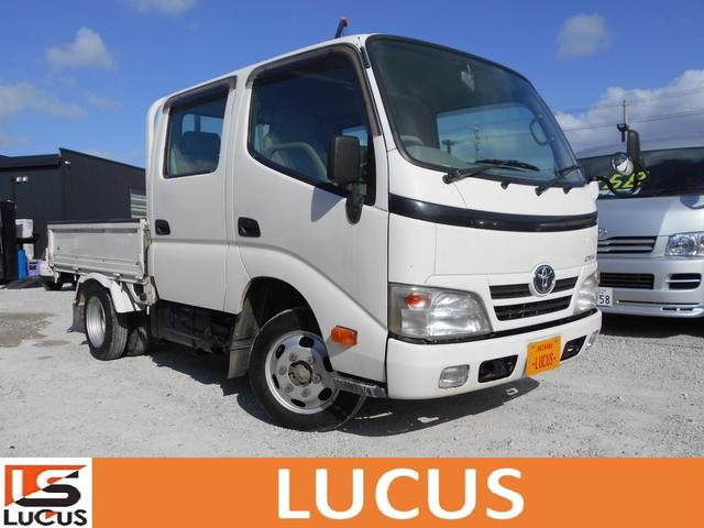 沖縄県の中古車ならダイナトラック Wキャブロングジャストロー 積載1.1t 5MT 3000cc 標準 全低床 内地中古 下廻り錆止め処理 荷台2.1mx1.6m 総重量3420kg 新普通免許運転可能