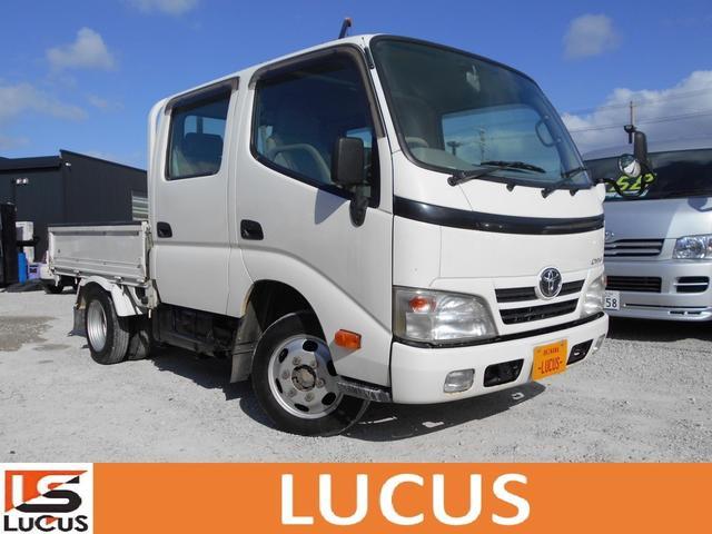 沖縄県の中古車ならダイナトラック Wキャブ 積載1.1t 5MT 3000cc 標準 全低床 内地中古 下廻り錆止め処理 荷台2.1mx1.6m 総重量3420kg 新普通免許運転可能 4ドア 6人乗り