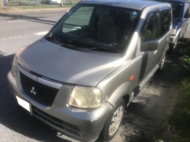 沖縄の中古車 三菱 eKワゴン 車両価格 4.8万円 リ済別 2003(平成15)年 11.8万km シルバー