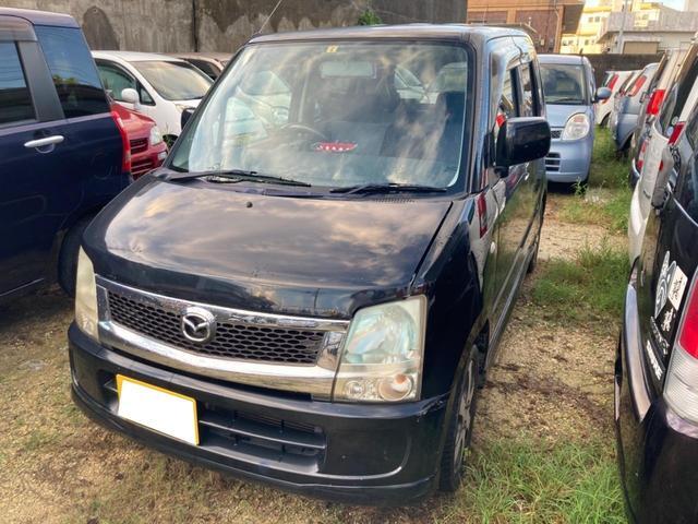 沖縄の中古車 マツダ AZワゴン 車両価格 9.8万円 リ済込 2007(平成19)年 15.5万km ブラック