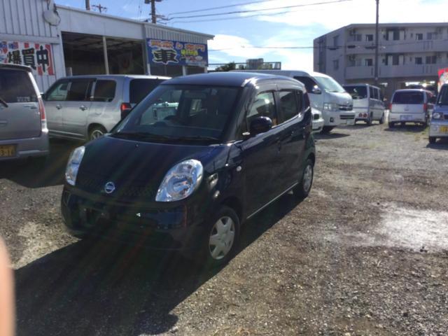 沖縄の中古車 日産 モコ 車両価格 25万円 リ済込 2010(平成22)年 8.7万km ダークブルーM