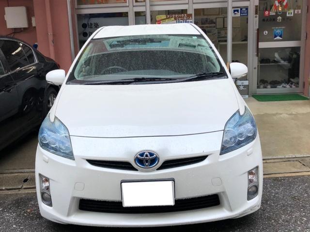 沖縄の中古車 トヨタ プリウス 車両価格 82万円 リ済込 2009(平成21)年 7.9万km ホワイト