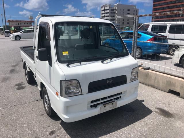 沖縄県の中古車ならサンバートラック TB・4WD・内地車・5MT・整備保証付・修復無・