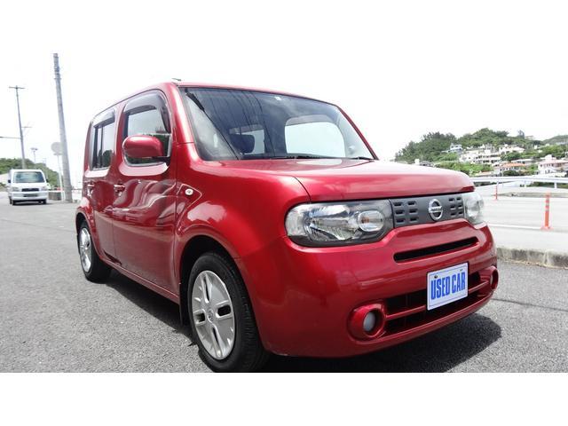 沖縄の中古車 日産 キューブ 車両価格 35万円 リ済別 2010(平成22)年 9.4万km ワイン