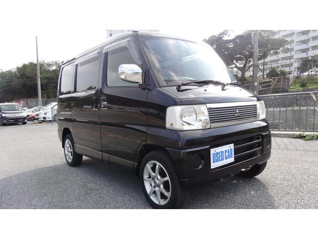 沖縄の中古車 三菱 タウンボックス 車両価格 24万円 リ済別・追 2004(平成16)年 13.5万km ブラック