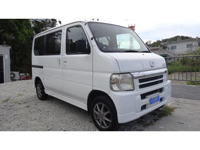 沖縄の中古車 ホンダ バモス 車両価格 27万円 リ済別・追 2004(平成16)年 15.0万km ホワイト