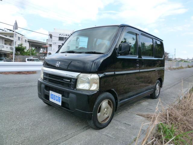 沖縄の中古車 ホンダ バモス 車両価格 27万円 リ済別・追 2001(平成13)年 12.1万km ブラック