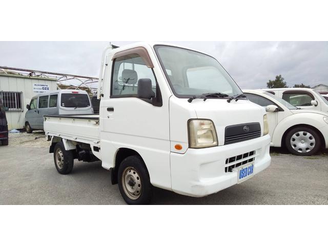 沖縄の中古車 スバル サンバートラック 車両価格 22万円 リ済別・追 2005(平成17)年 8.7万km ホワイト