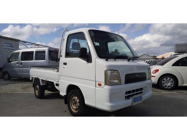 沖縄の中古車 スバル サンバートラック 車両価格 27万円 リ済別・追 2002(平成14)年 13.9万km ホワイト