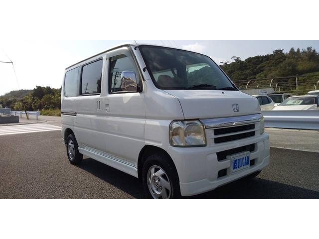 沖縄の中古車 ホンダ バモス 車両価格 24万円 リ済別・追 2005(平成17)年 16.0万km ホワイト