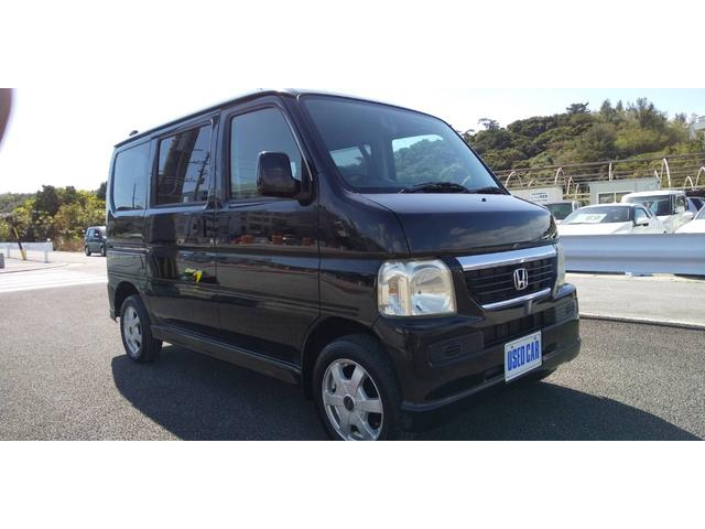 沖縄の中古車 ホンダ バモス 車両価格 34万円 リ済別・追 2007(平成19)年 13.4万km ブラック