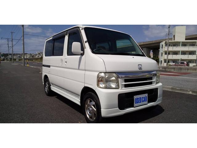 沖縄の中古車 ホンダ バモス 車両価格 28万円 リ済別・追 2001(平成13)年 14.0万km ホワイト