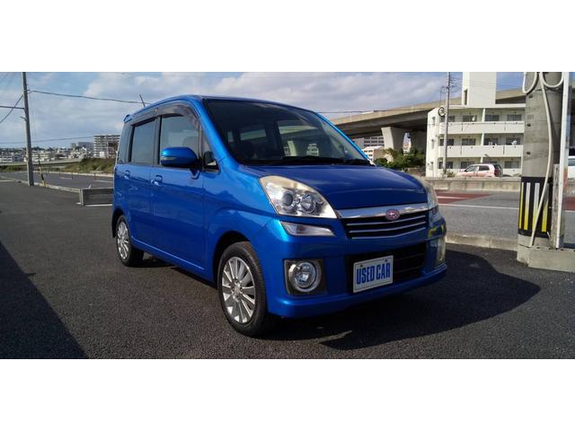 沖縄の中古車 スバル ステラ 車両価格 30万円 リ済別・追 2009(平成21)年 13.0万km ブルー