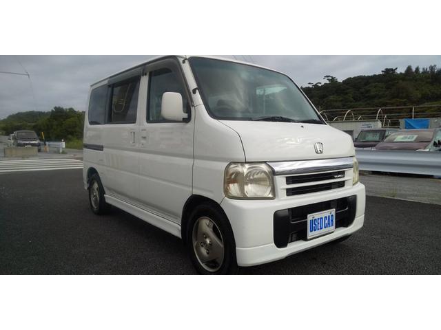 沖縄の中古車 ホンダ バモス 車両価格 26万円 リ済別・追 2001(平成13)年 14.4万km ホワイト