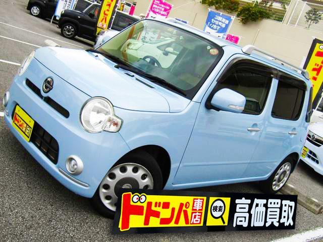 沖縄の中古車 ダイハツ ミラココア 車両価格 47万円 リ済込 2010(平成22)年 6.0万km 水色