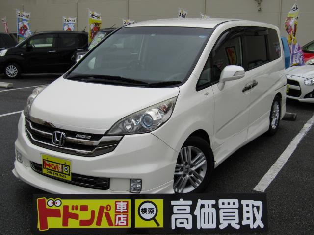 沖縄県うるま市の中古車ならステップワゴン スパーダ24SZ 両スラ フルセグ フリップダウン