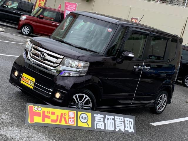 沖縄の中古車 ホンダ N-BOXカスタム 車両価格 105万円 リ済別 2015(平成27)年 7.2万km ワイン