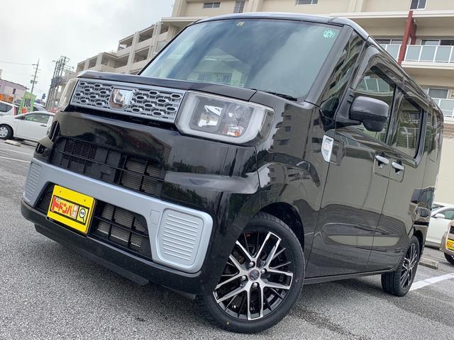 沖縄県の中古車ならウェイク D 新品社外ホイール LEDライト 両側スライドドア 禁煙車 ETC付 横滑り防止機能 アイドリングストップ キーレスエントリー フルフラットシート サブトランク リアアンダーミラー