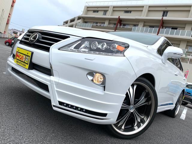 沖縄県うるま市の中古車ならRX RX270 フルエアロ(M'z SPEED)22インチアルミホイール スポーツマフラー(M'z SPEED)サンルーフ