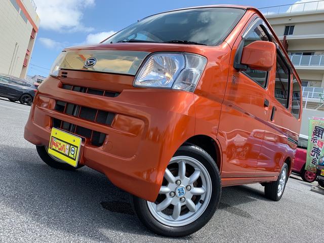 沖縄県の中古車ならハイゼットカーゴ クルーズターボ55thアニバサリゴールドエディション Bluetooth ナビ付き MT・ターボ車 電格ミラー ETC付 社外アルミホイール