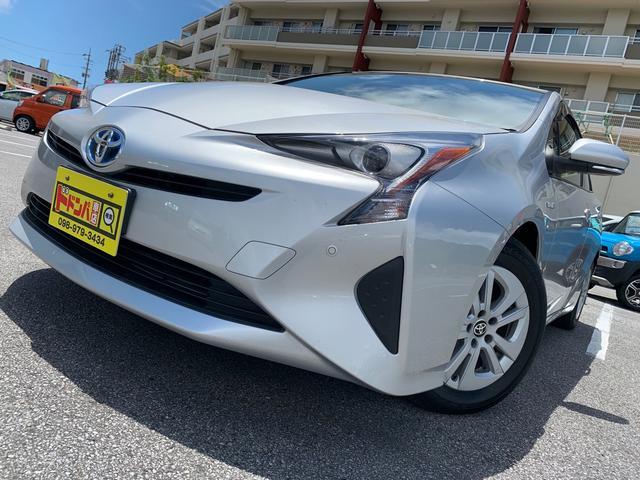 沖縄県の中古車ならプリウス S 5年保証付き フルセグ Bluetooth クリアセンサー バックカメラ 横滑り防止 ETC付 LEDヘッドライト