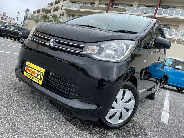 沖縄の中古車 三菱 eKワゴン 車両価格 50万円 リ済込 2014(平成26)年 7.4万km ブラックマイカ
