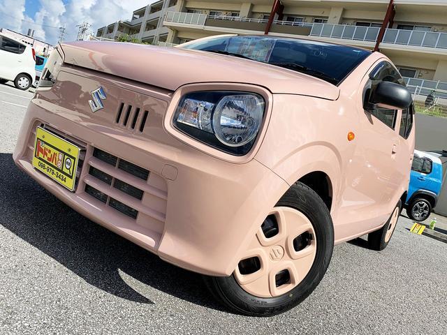 沖縄県うるま市の中古車ならアルト L コフレピンクパールメタリック 横滑り防止 アイドリングストップ ETC付